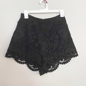 Stone Cold Fox black lace high waisted shorts
